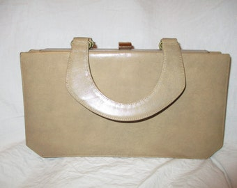 Saks Fifth Ave. expandable leather satchel