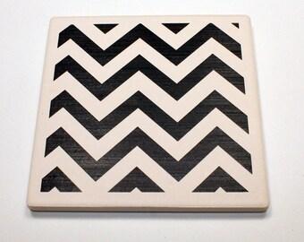 Cheveron ceramic coaster