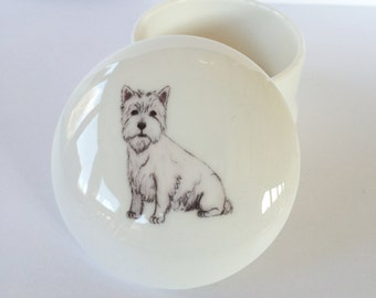 Small West Highland Terrier Trinket