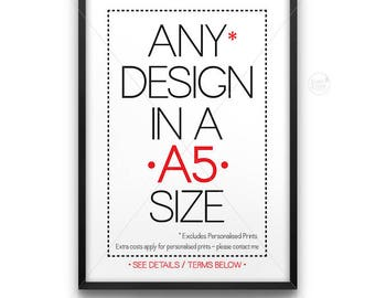A5 size print || typography art, gallery wall, A5, A5 print, nursery print, nursery decor, A5 art, A5 printables,