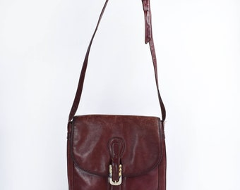 Brick Red Leather Purse