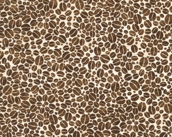 Coffee Beans  - Brown Fabric  - Timeless Treasure  - Cotton Fabric - Beans Fabric