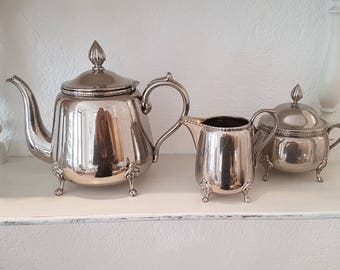 Antique silver plated coffee service