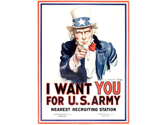 wwii poster uncle sam i want you for u s army propaganda. Black Bedroom Furniture Sets. Home Design Ideas