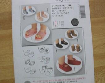 burda 9512 Doll Shoes