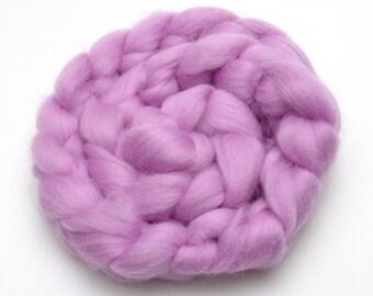 BFL Wool Combed Top Lavender Purple - Heritage Breed - 100 grams