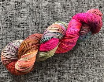 Cave of wonders, 4ply yarn, sparkle yarn, hand dyed yarn, superwash merino, stellina, nylon, sock yarn