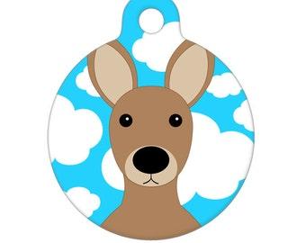 Pet ID Tag - Kangaroo Pet Tag, Dog Tag, Cat Tag, Luggage Tag, Child ID Tag