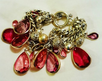 A stunning silver plated multi stranded bracelet