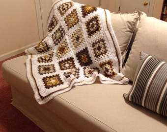 Shades of Brown Throw