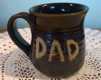 DAD mug, brown and purple glaze, lovely father gift