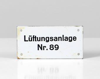 Vintage metal sign, enamel sign, black white sign, industrial sign, metal wall sign