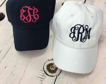 Monogrammed cap, monogrammed hat, monogrammed baseball cap, hat, cap, personalized cap