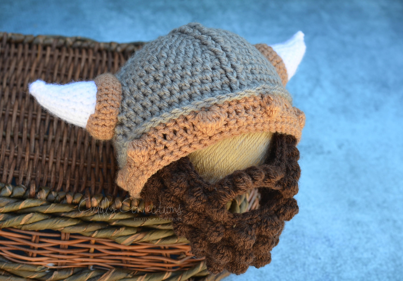 Babymütze Wikinger Wikinger Baby Bart Hut häkeln Wikinger