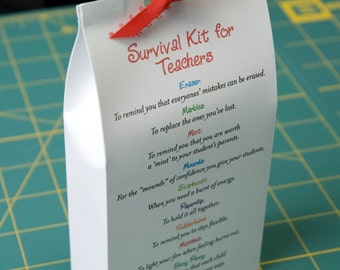 Survival Kit for Teachers - Printable PDF