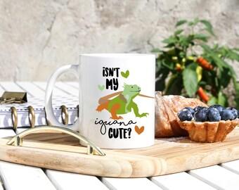 Iguana Mug - Iguana Pet Gifts - Green Iguana Gifts - Iguana Mugs - Iguana Owner Gifts - Iguana Lover Mug - Reptile Gifts- Exotic Pet Mug