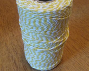 Bakers twine - yellow & white