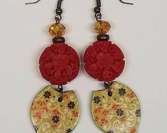 Red Fall Earrings