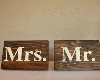 Mr and Mrs Wedding Home Decor Sign