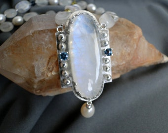Moonstone and Topaz Necklace