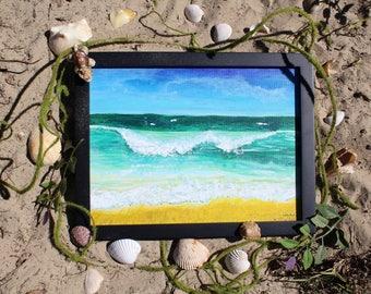 Acrylic Painting Ocean Study