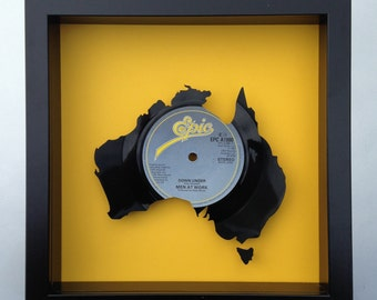Men at Work 'Down Under' Australia Vinyl Record Art