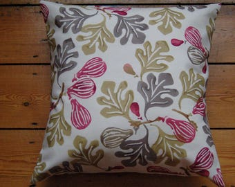 Handmade Cushion Cover Emma Bridgewater Fig (rose) Fabric 16 x 16