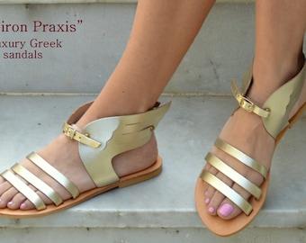 Ancient Greek Sandals,Hermes Winged Sandals,Greek Sandals,Leather Sandals,Mythology inspired Sandals,Greek leather sandals,Gold sandals