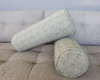 IN STOCK Ships ASAP. Set of 2 Mid Century Bolster Pillows-Set of 2- Aegean