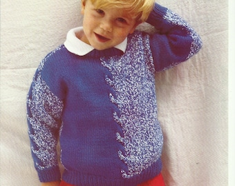 Boys Sweater Knitting Pattern.