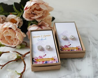 Classic earring, gold stud, gift for her, bridesmaid gift, asking bridesmaid, thank you gift, crystal earring, rhinestone earring, mum gift