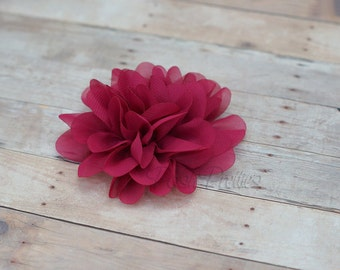 Raspberry Flower Hair Clip - Petal Flower- Flower Hair Clip - Alligator Clip - With or Without Rhinestone Center