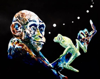 The monkey and the frog
