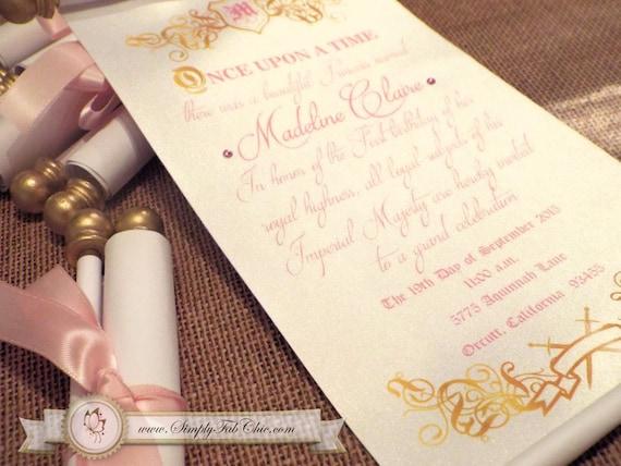Royal princess scroll invitation birthday wedding invitation like this item filmwisefo Images
