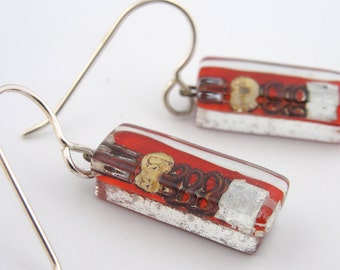 Mixed Media Earrings: Jacques Small Bars