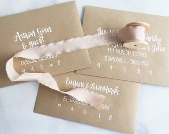 Custom Hand Lettered Envelopes - Holiday Cards, Wedding Envelopes, Event Invitations, Envelope Addressing