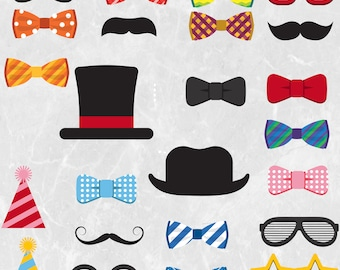 24 colorful accessories and bowties