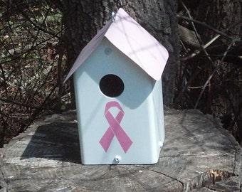 Breast Cancer Awareness Birdhouse
