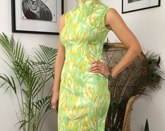 Vintage 60's 70's 90's Chinese cheongsam dress size 8/10 spring summer
