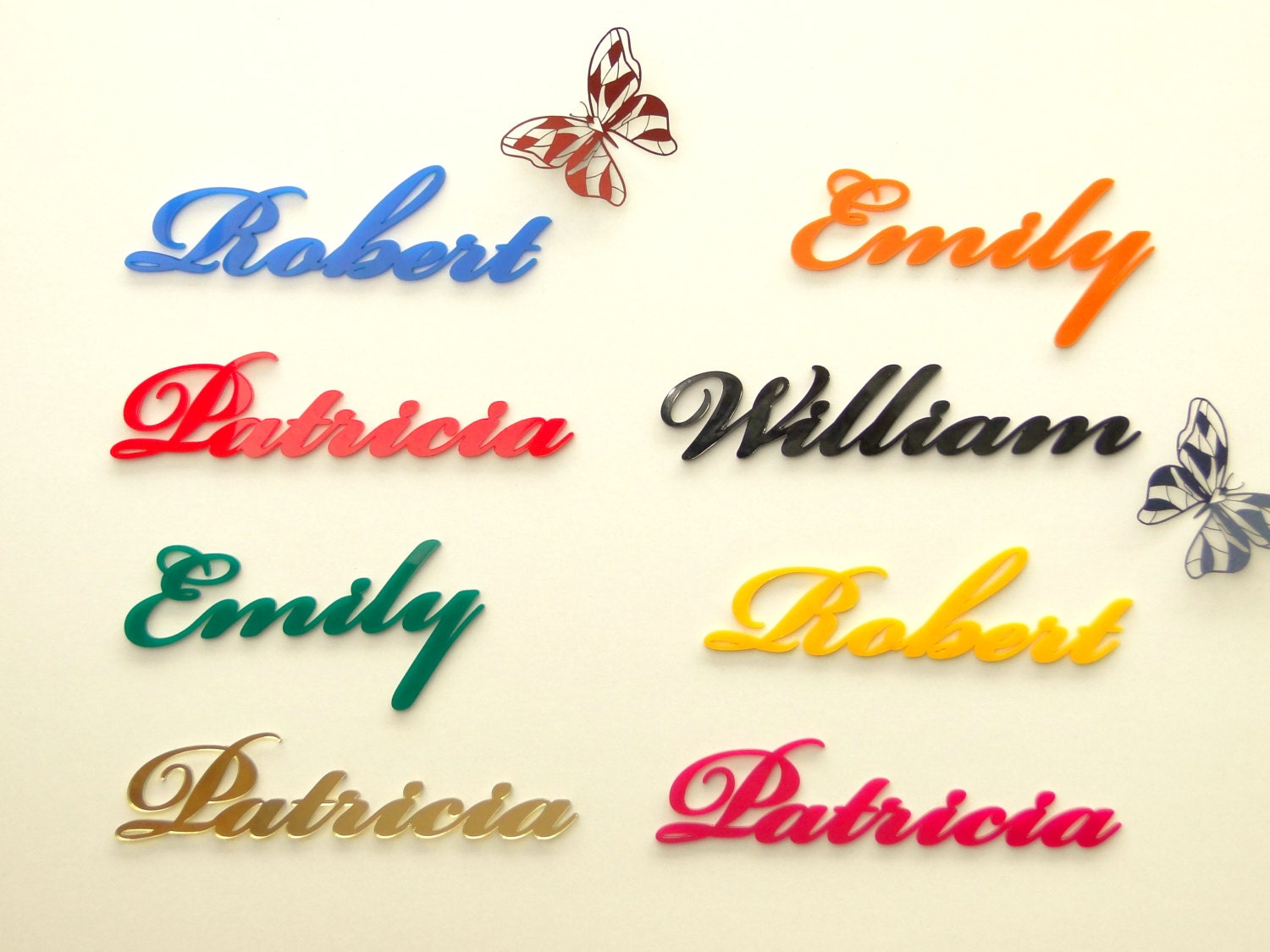 Laser cut names wedding table names place cards name place settings franjohnsonhouse junglespirit Gallery