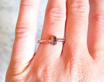 Single Labradorite Ring Size 5 3/4
