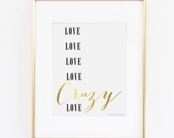 Crazy Love Wedding | Crazy Love Lyrics | Song Lyrics |Wedding Decor | Wedding Printable | Wedding Art | Michael Buble | Crazy Love Song Art