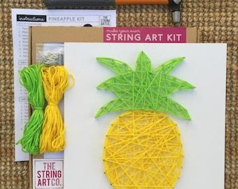 String Art Kit: Pineapple, Craft Kit, Craft Gift, DIY Craft Kit, String Art Pattern, Kids' Craft, Teen Craft, Gift Kit, DIY Kit