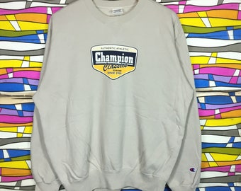 Rare!! Vintage CHAMPION USA Crewneck Xlarge Size Spellout big logo jumper pullover gift