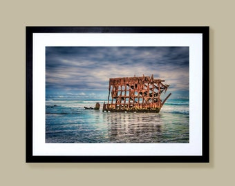 Fine art limited edition canvas photography prints of the Peter Iredale shipwreck on the Oregon Coast