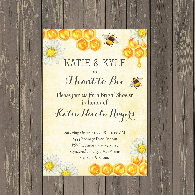 Bee Bridal Shower Invitation Bumble bee Bridal shower invite