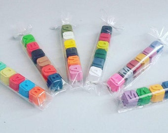 Letter / Name wax crayons