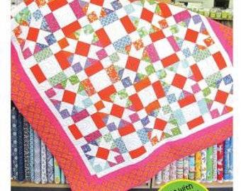 Star Power Quilt Pattern - Cozy Quilt Designs - Fat Quarters Anonymous - Fat Quarter Friendly Pattern - Strip Tube Ruler Pattern