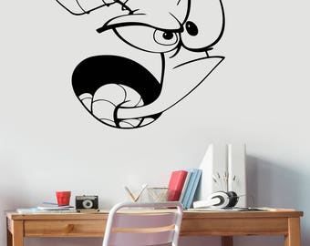 Earthworm Jim Wall Decal Removable Vinyl Sticker 90s Cartoon Art Video Game Decorations for Home Kids Boys Room Comic Book Decor ejm1