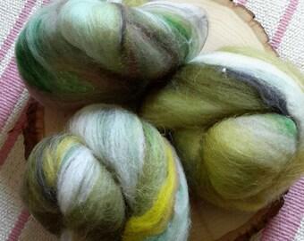 Ramblewood Rockin' Rolly battlet set - soft mixed fibers for spinning, fiber arts